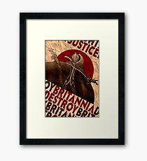Code Geass | Lelouch Zero propaganda | Justice will prevail  Framed Print