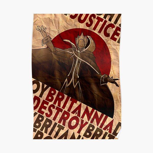 Code Geass | Propagande Lelouch Zero | la justice triomphera Poster