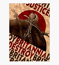 Code Geass | Lelouch Zero propaganda | Justice will prevail  Photographic Print