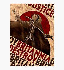 Lámina fotográfica Código Geass | Propaganda de Lelouch Zero | la justicia prevalecerá