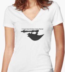 Scythe - Buffy - Julienne Preacher Black Women's Fitted V-Neck T-Shirt