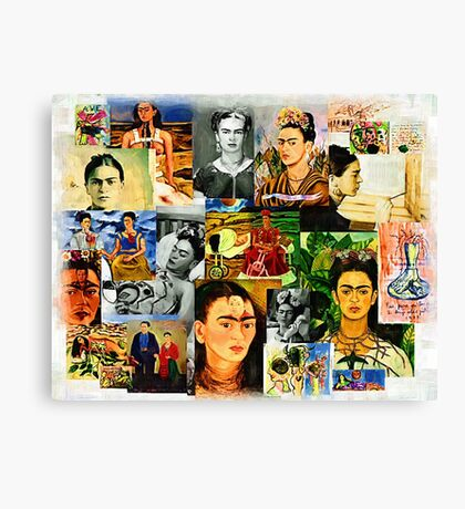 Obsessed with Frida Kahlo Canvas Print