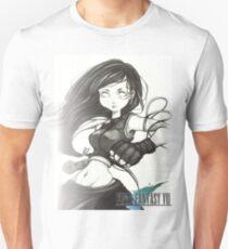 Monochrome Tifa Lockhart  T-Shirt
