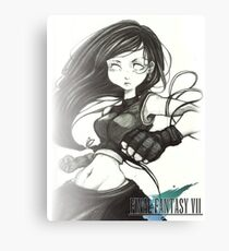 Monochrome Tifa Lockhart  Canvas Print