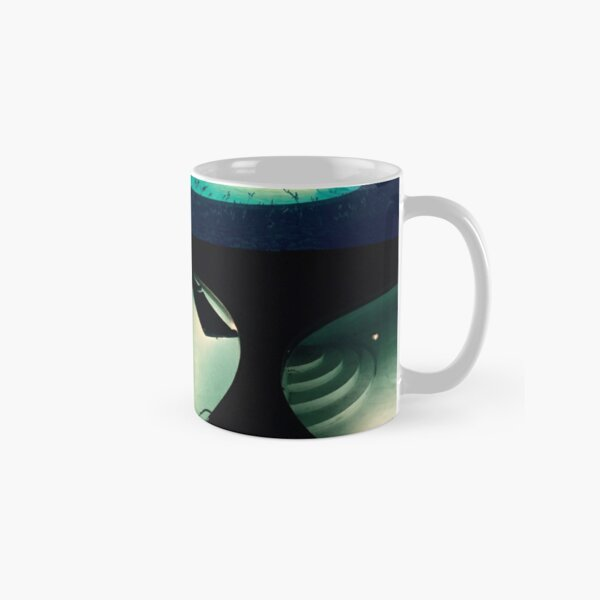 Spooky Summer Pool at Night Collage Classic Mug