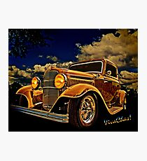 32 Ford Three Window Coupe and the Golden Hour Photographic Print