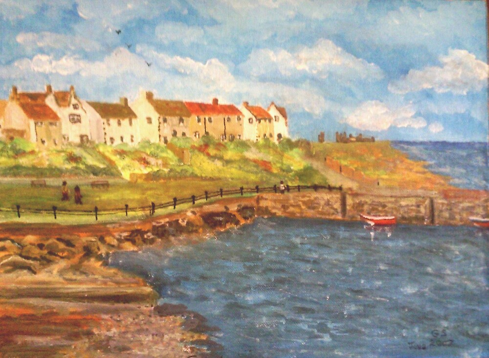 Craster Harbour, Northumberland by GEORGE SANDERSON