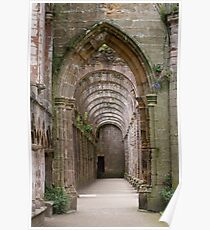 Archway at Fountains Abbey Poster