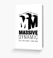 Massive Dynamic – Your World Is Our World Variant Greeting Card