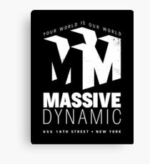 Massive Dynamic – Your World Is Our World Variant Reverse Canvas Print