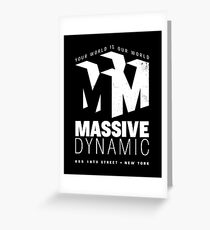Massive Dynamic – Your World Is Our World Variant Reverse Greeting Card