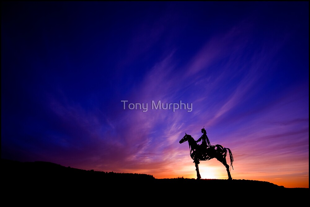 Solstice Sunset on the Curlew Mountains. by Tony Murphy