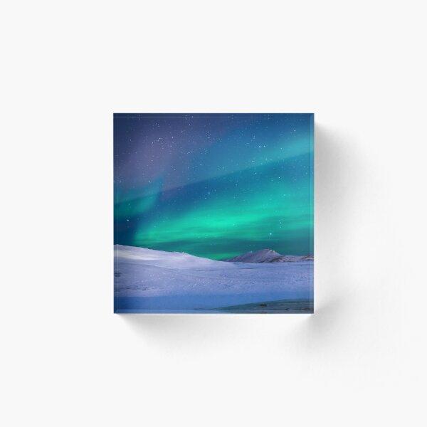 Aurora borealis Acrylic Block