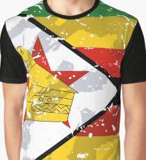 Zimbabwe Grunge Vintage Flag Graphic T-Shirt
