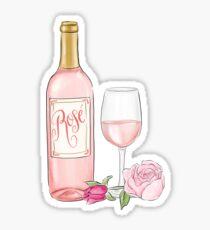 Rose Wine Sticker