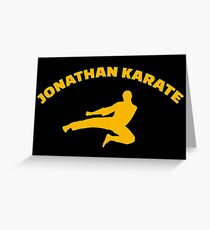 Jonathan Karate - Parks and Recreation Greeting Card