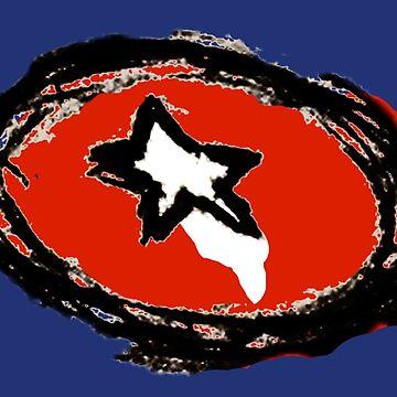 Minimalist American Hero Shield by cephasgarrett