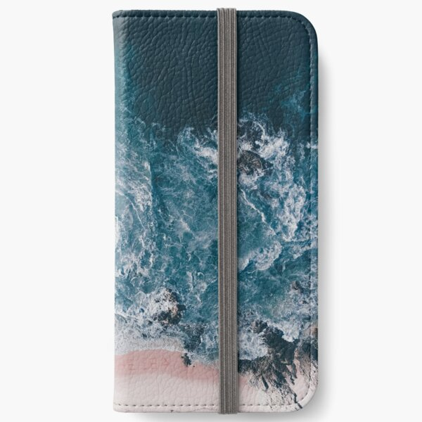 I love the sea - written on the sand iPhone Wallet