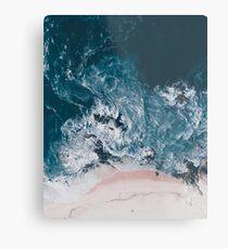 I love the sea - written on the sand Metal Print
