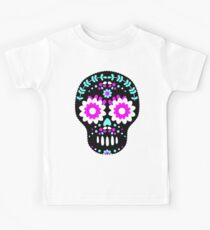 Black and Neon Sugar Skull Kids Clothes