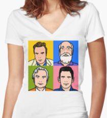Four Horsemen 2013 - Hitchens, Dennett, Dawkins & Harris Women's Fitted V-Neck T-Shirt