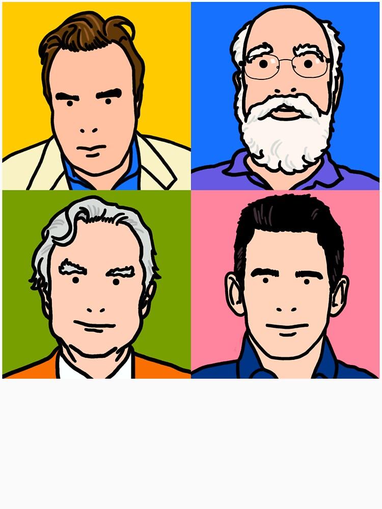Four Horsemen 2013 - Hitchens, Dennett, Dawkins & Harris | Unisex T-Shirt