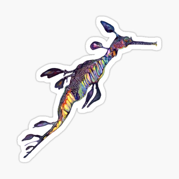 Purple Sea Dragon Sticker