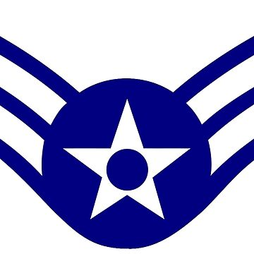 AIR FORCE, AIRMAN, FIRST CLASS, USA, US, America, American by TOMSREDBUBBLE