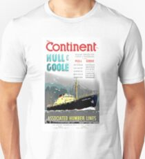 'The Continent, Hull and Goole'. T-Shirt