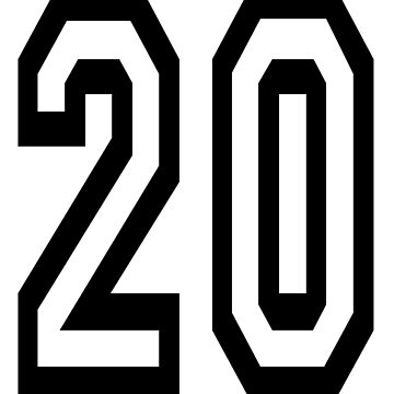 20, TEAM SPORTS, NUMBER 20, TWENTY, TWENTIETH, Competition,  by TOMSREDBUBBLE
