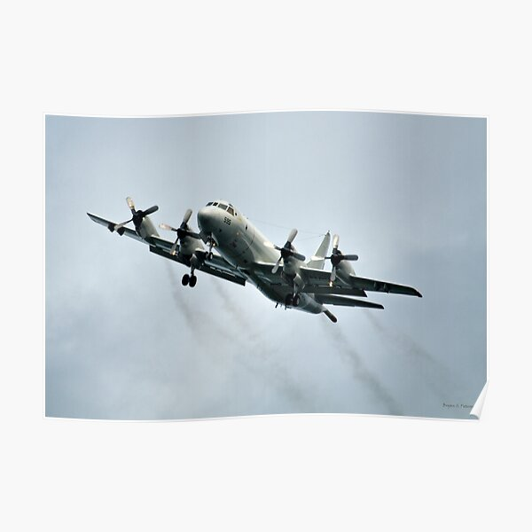 P-3 Orion Flying Poster