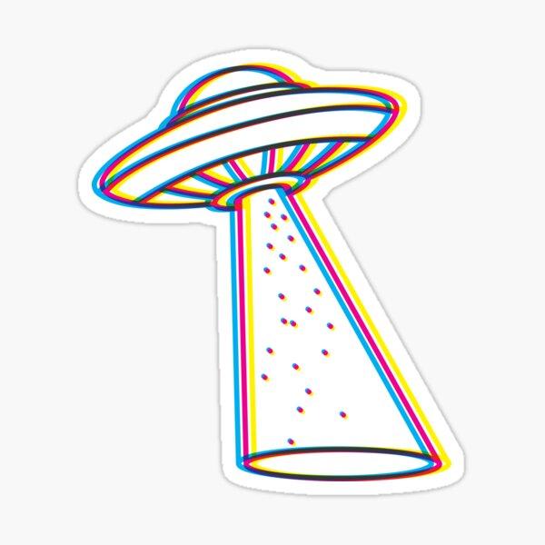 """4"""" Astronaut Cat Sticker Alien UFO Extraterrestrial Space Punk Skate Sticker"""