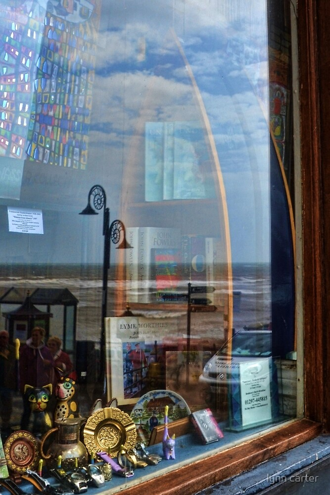 Reflections In Old Lyme Bookshop by lynn carter