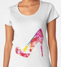 stiletto shoe high heel Women's Premium T-Shirt
