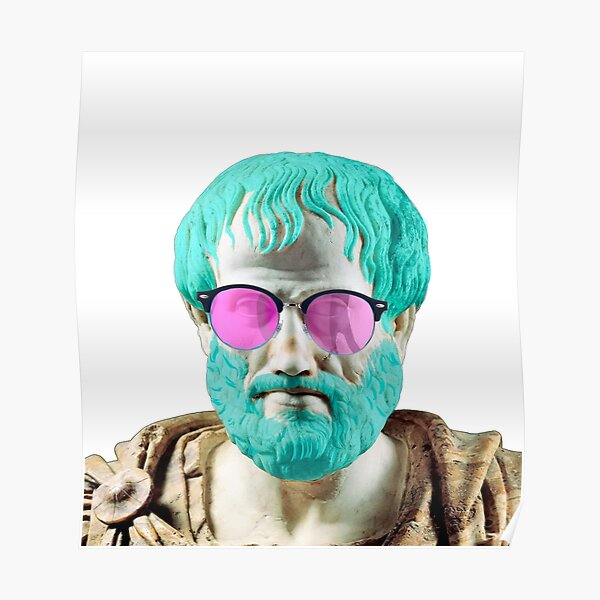 Aristotle in Blue Poster
