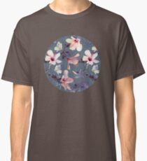 Butterflies and Hibiscus Flowers - a painted pattern Classic T-Shirt