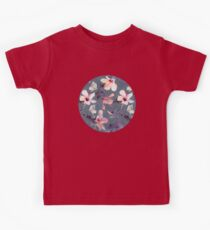 Butterflies and Hibiscus Flowers - a painted pattern Kids Clothes