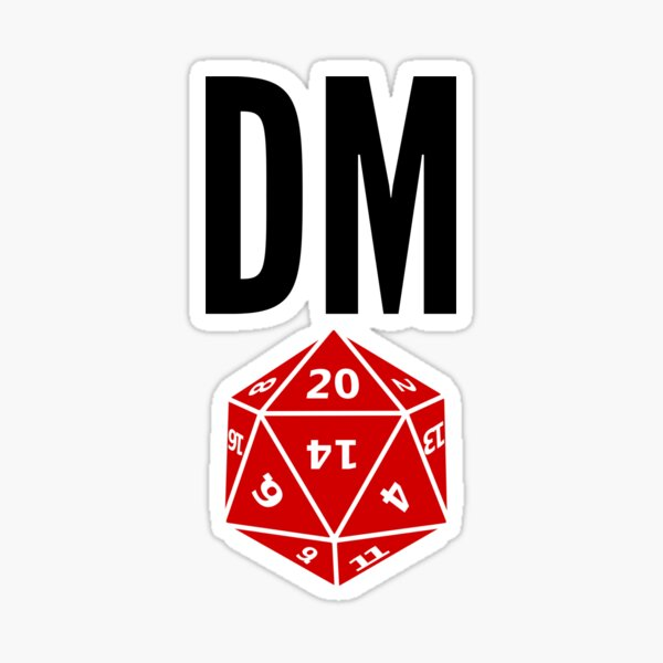 Dungeons and Dragons DnD D&D Dungeon Master Gift Idea Sticker