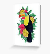 Tropical toucan Greeting Card