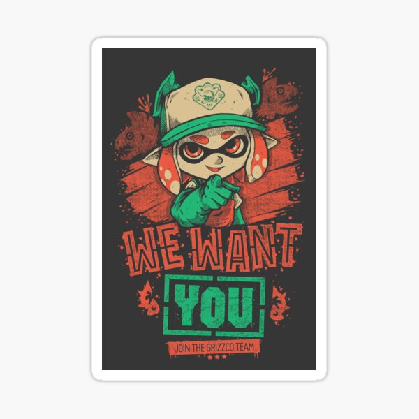 We Want You! Sticker