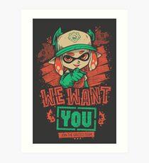 We Want You! Art Print