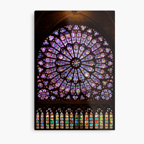 The North Rose window of Notre Dame Metal Print