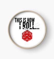 Dungeons and Dragons This Is How I Roll Dice DM DnD D&D Gift Idea Clock