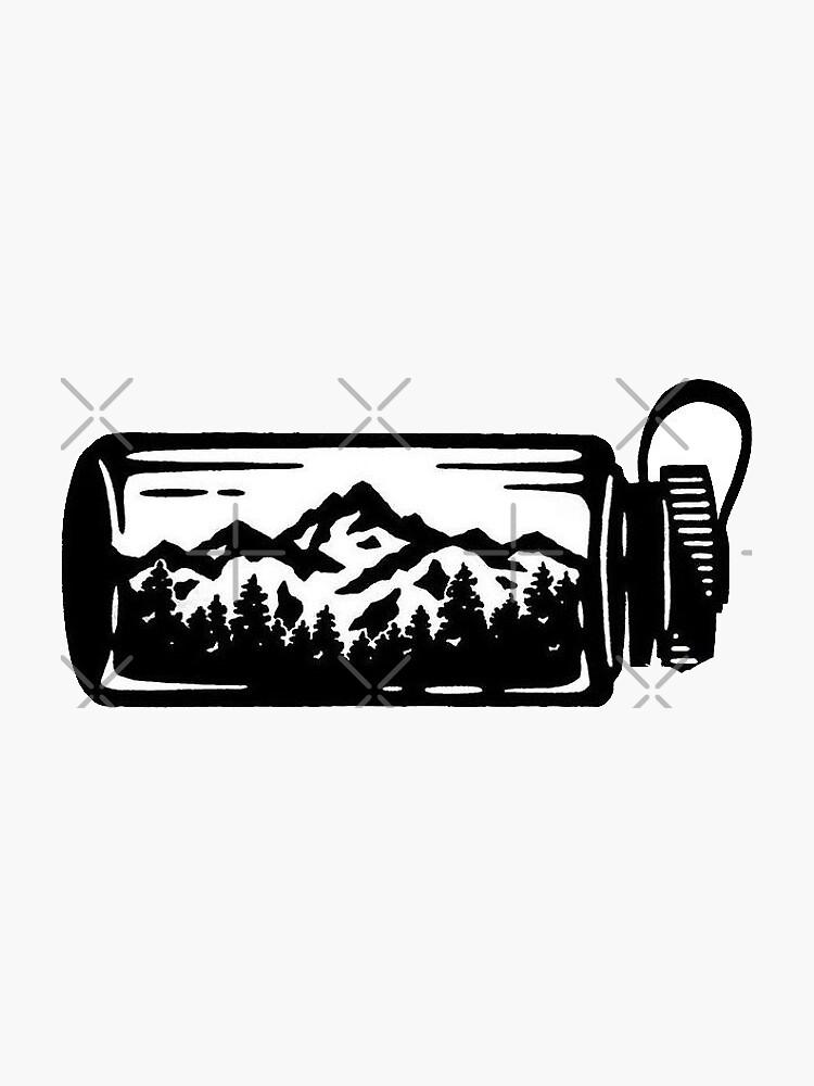 botella de agua al aire libre de stickersnstuff