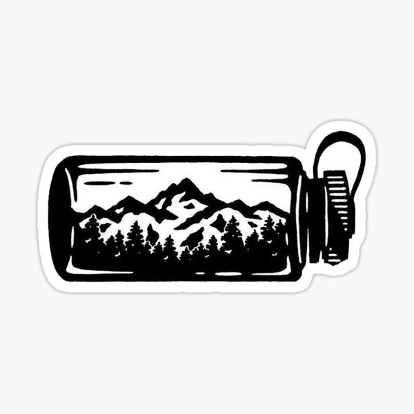 outdoor water bottle Sticker
