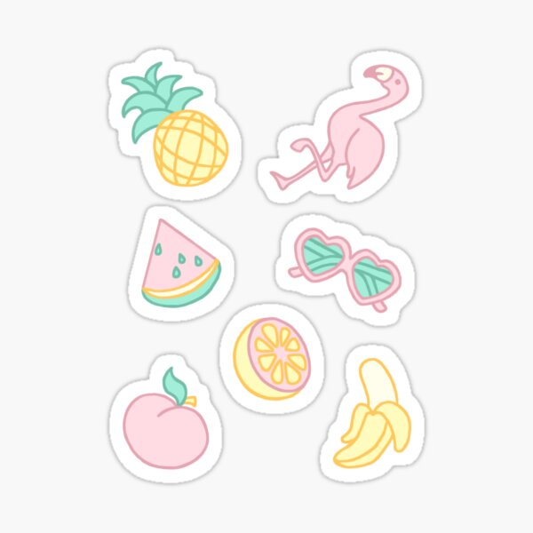 Pastel Paradise Stickers Sticker