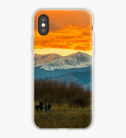 Sunset Walk And The Continental Divide iPhone Case