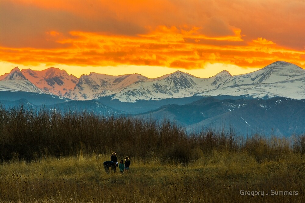 Sunset Walk And The Continental Divide by Gregory J Summers
