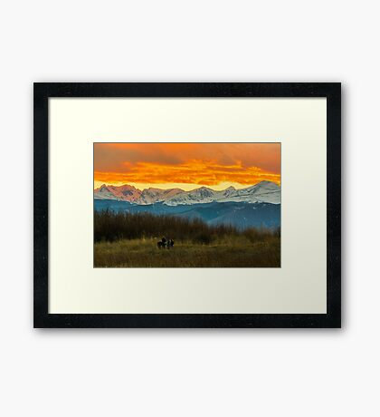 Sunset Walk And The Continental Divide Framed Print