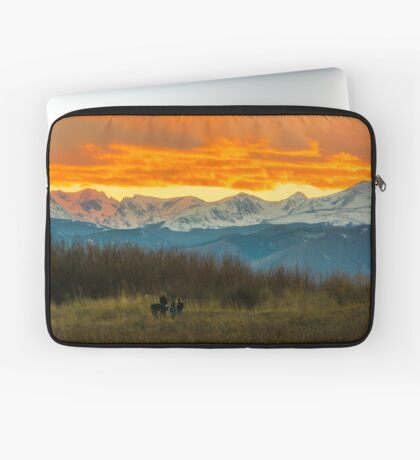 Sunset Walk And The Continental Divide Laptop Sleeve